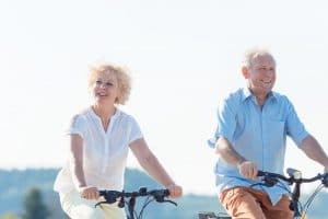 Active elderly couple in Chandler AZ